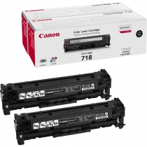CRG718 VP Bk - Toner Cartridge BK TWIN PACK LBP7200Cdn & MF83xx/MF85xx/MF724Cdw/MF728Cdw/MF729Cx